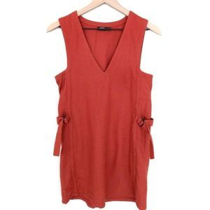 Kate Spade Brick Red Cinched Wool Shift Dress
